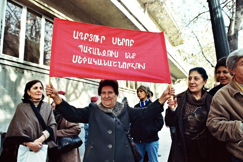 Manifestation des expulsés de la Grande Avenue. Yerevan. Emilie Fernandez